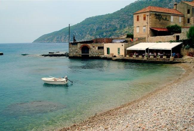 A perfect lunch on Vis island, Croatia