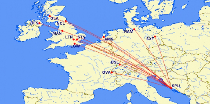 Easyjet brings forward its schedules on several key routes to Split